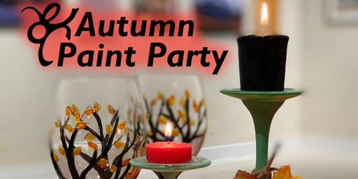 Autumn Paint Party | Wine Glasses Project