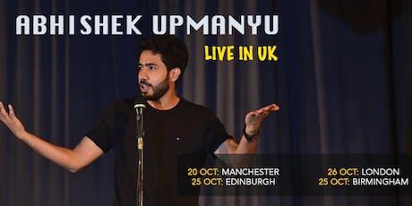 Abhishek Upmanyu Live in Manchester, UK tickets