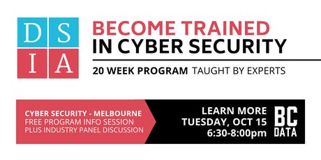 Career Change to Cyber Security in 20-weeks - Free Program Info Session - Melbourne - 6:30pm start tickets