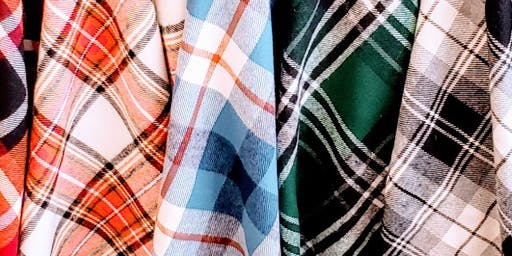 SIP + STITCH: NO-SEW FLANNEL BLANKET SCARVES