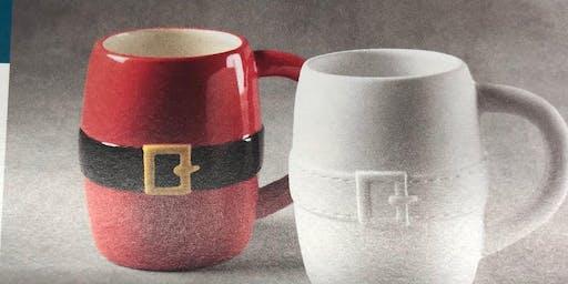 Paint your own Santa Mug @ Riverside Airpot Cafe