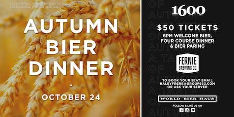 1600 Autumn Bier Dinner tickets