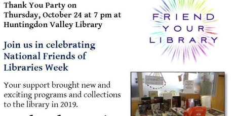 HV Library Thank You Reception for Our Friends tickets