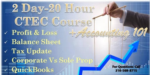 2 Day - 20 Hour CTEC Course + Accounting 101