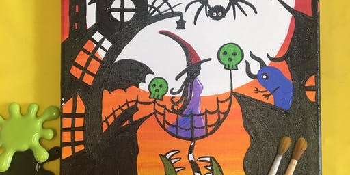 Canvas Painting Night: A Walk Thru Halloween Town