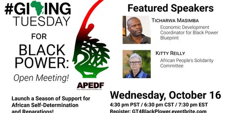 Giving Tuesday For Black Power! Open Meeting tickets