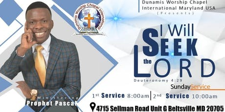Sunday Morning Worship Services With Prophet Pascal. It's Your Time To Seek The Lord. tickets