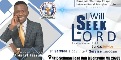 Sunday Morning Worship Services With Prophet Pascal. It's Your Time To Seek The Lord.