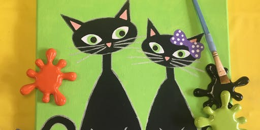 Pancakes and Paint: Black Cats
