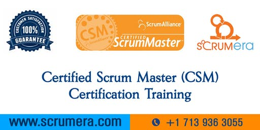 Scrum Master Certification | CSM Training | CSM Certification Workshop | Certified Scrum Master (CSM) Training in Waterbury, CT | ScrumERA