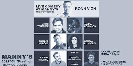 Live Comedy at Manny's!