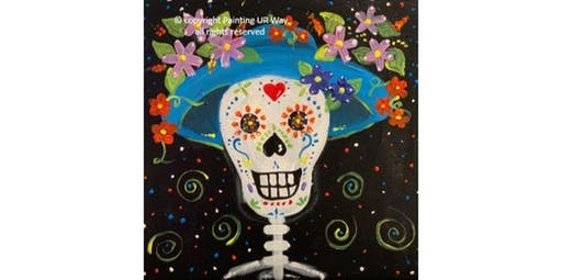 Happy Sugar Skull (12x12 Canvas)   (2019-10-26 starts at 3:00 PM)