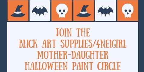 Blick Art Supplies/4ne1girl Mother-Daughter Halloween Paint Circle
