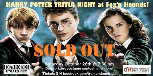 Harry Potter Trivia Night KAMLOOPS!