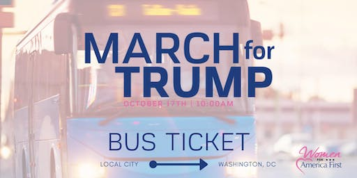 March for Trump: BUS for Dover, DE  and Salisbury, MD  to Washington DC