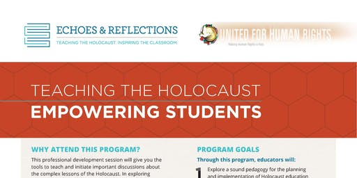 Holocaust Professional Development Training