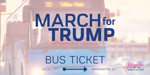 March for Trump: SAME DAY Raleigh/HamptonRoads to Washington DC