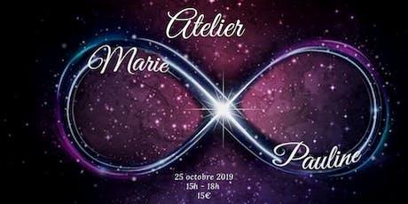 Atelier avec Marie Pauline Chassé 25 octobre 2019 billets