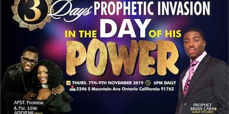 3 Days Prophetic Invasion tickets