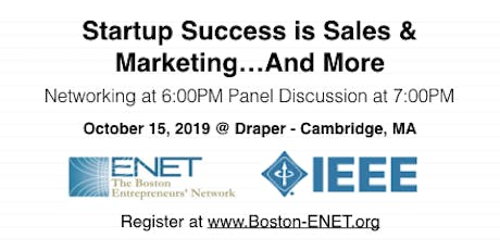 Startup Success is Sales & Marketing…And More tickets