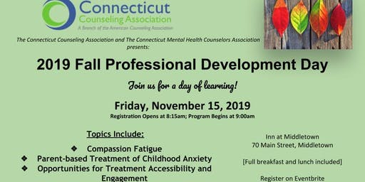 Connecticut Counseling Association Fall Professional Development Day - 2019
