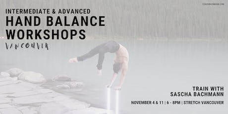 Nov 4th - Intermediate & Advanced Hand balance Workshop biglietti