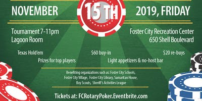 Rotary Club of Foster City Poker Tournament Benefit (3rd Annual)