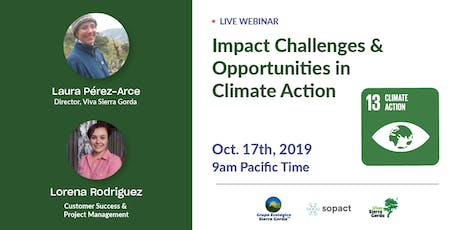 Impact Challenges and opportunities in Climate Action aligned to SDG 13 Tickets