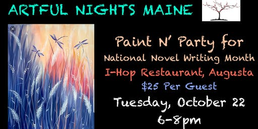 Paint N' Party for National Novel Writers Month