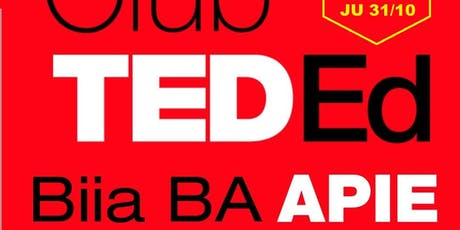 Conferencia TED Ed BiiA APIE entradas