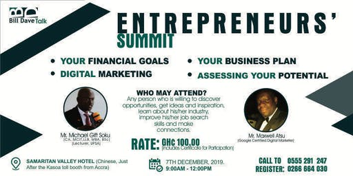 ENTREPRENEURS' SUMMIT 2019