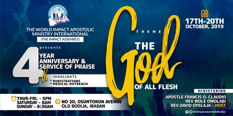 4th Anniversary & Service Of Praise tickets