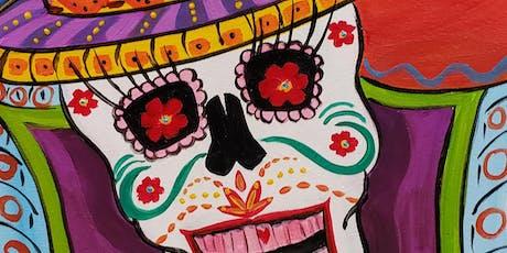 Sugar Skull Painting Party at Brush & Cork tickets