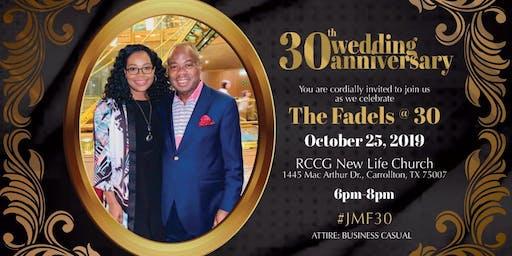 Pastor James & Manita Fadel 30th Wedding Anniversary