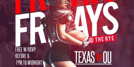 FRIDAY'S @ The RYE - Indoor + Patio Bar in Uptown Dallas tickets