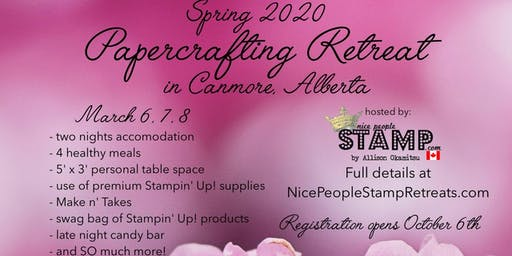 Spring 2020 Papercrafting Retreat