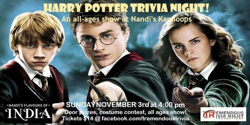 Harry Potter Trivia Night KAMLOOPS  All-Ages Show!