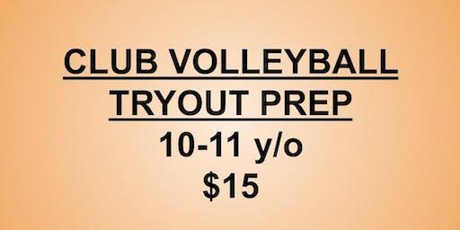 Club Volleyball Tryouts Prep 10-11 y/o