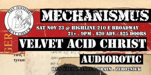 Mechanismus Presents Velvet Acid Christ / Audiorotic