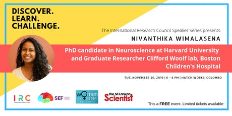 A Forum with Harvard Medical School PhD  candidate Nivanthika Wimalasena tickets