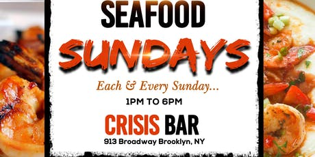 Brunchaholic Seafood Sundays at Crisis Bar tickets