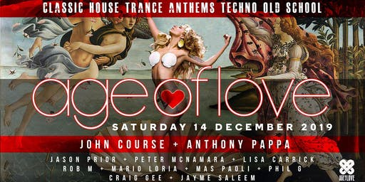 'AGE Of LOVE ' ❤️  Old School Club Anthems ❤    John Course & Anthony Pappa