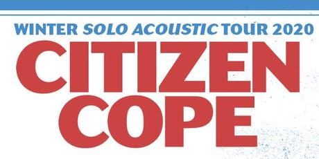 Citizen Cope at State Theatre (February 13, 2020) tickets