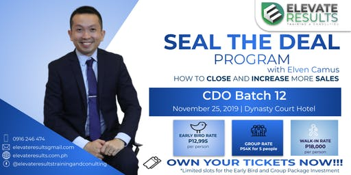 Seal the Deal Program - CDO Batch 12
