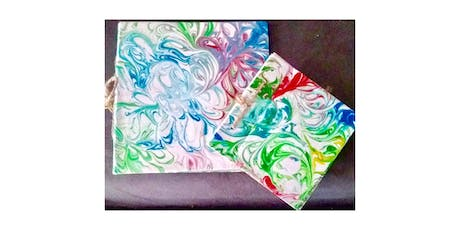 """Kids & Adult Open Session (7yrs+)  """"Marbled Paper"""" tickets"""