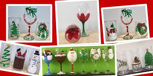 "Adult Open Paint (18yrs+) ""Christmas Glasses"""