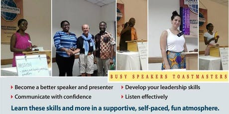 Toastmasters Meeting   Improve your Public Speaking Skills tickets
