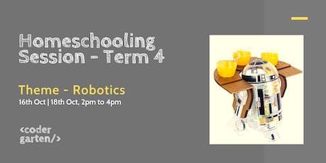 Homeschooling session Term 4 - Robotics tickets