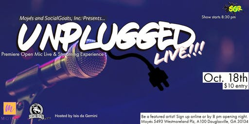 SG: Unplugged LIVE! Open Mic Night