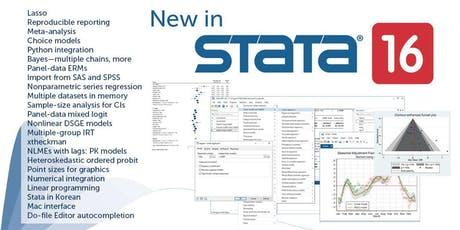 Research Design, Data Management and Analysis using Stata tickets